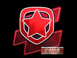 Наклейка | Gambit Gaming (металлическая) | Атланта 2017
