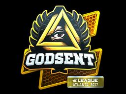 Наклейка | GODSENT (металлическая) | Атланта 2017