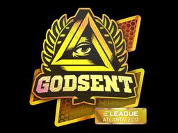Наклейка | GODSENT (голографическая) | Атланта 2017