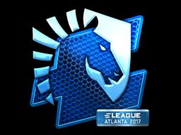 Наклейка | Team Liquid (металлическая) | Атланта 2017