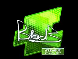 Наклейка | B1ad3 (металлическая) | Атланта 2017