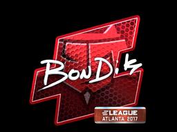 Sticker   bondik (Foil)   Atlanta 2017