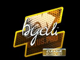 Наклейка | byali (металлическая) | Атланта 2017
