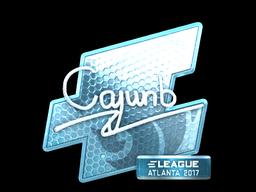 Sticker   cajunb (Foil)   Atlanta 2017