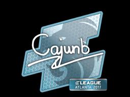 Наклейка | cajunb | Атланта 2017