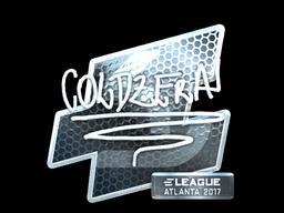Наклейка | coldzera (металлическая) | Атланта 2017