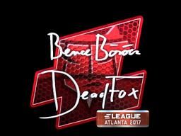 Sticker   DeadFox (Foil)   Atlanta 2017