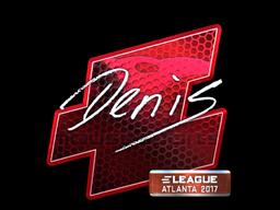 Sticker   denis (Foil)   Atlanta 2017