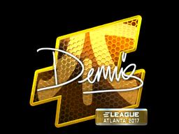 Наклейка | dennis (металлическая) | Атланта 2017