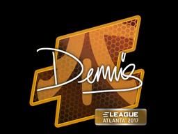 Наклейка | dennis | Атланта 2017