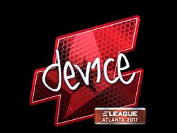 Наклейка | device (металлическая) | Атланта 2017