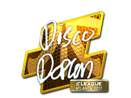 Наклейка | disco doplan (металлическая) | Атланта 2017