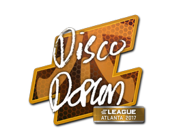 Наклейка | disco doplan | Атланта 2017