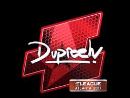 Наклейка | dupreeh (металлическая) | Атланта 2017