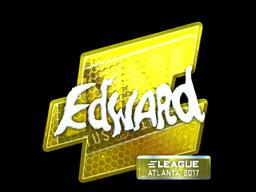 Наклейка | Edward (металлическая) | Атланта 2017