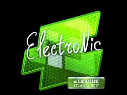 Наклейка | electronic (металлическая) | Атланта 2017