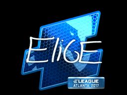 Наклейка | EliGE (металлическая) | Атланта 2017
