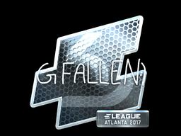 Наклейка | FalleN (металлическая) | Атланта 2017