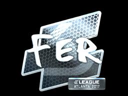 Наклейка | fer (металлическая) | Атланта 2017