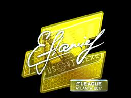 Наклейка | flamie (металлическая) | Атланта 2017