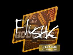 Наклейка   flusha   Атланта 2017