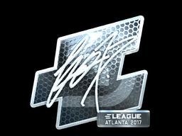 Наклейка | fox (металлическая) | Атланта 2017