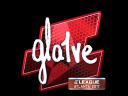 Наклейка | gla1ve (металлическая) | Атланта 2017