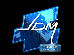 Наклейка | jdm64 (металлическая) | Атланта 2017