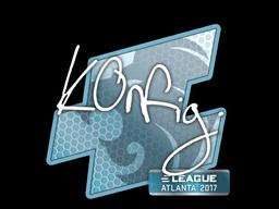 Наклейка | k0nfig | Атланта 2017