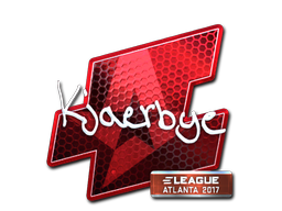 Наклейка | Kjaerbye (металлическая) | Атланта 2017