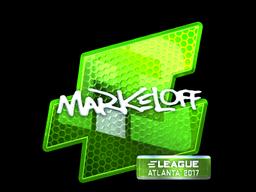 Наклейка | markeloff (металлическая) | Атланта 2017