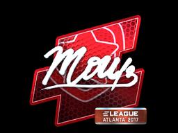 Наклейка | mou (металлическая) | Атланта 2017