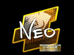 Наклейка | NEO (металлическая) | Атланта 2017