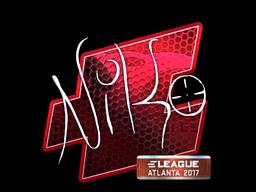 Sticker   NiKo (Foil)   Atlanta 2017