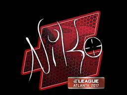 Sticker | NiKo | Atlanta 2017