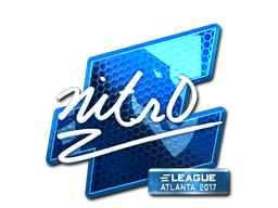 Наклейка | nitr0 (металлическая) | Атланта 2017