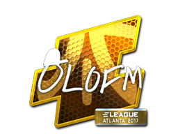 Наклейка | olofmeister (металлическая) | Атланта 2017
