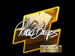 Наклейка | pashaBiceps (металлическая) | Атланта 2017