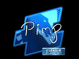 Наклейка | Pimp (металлическая) | Атланта 2017
