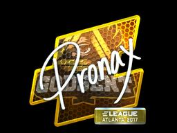 Sticker   pronax (Foil)   Atlanta 2017