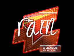 Sticker   rain (Foil)   Atlanta 2017