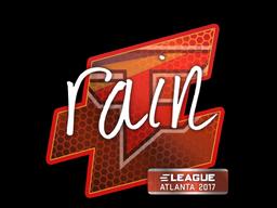 Наклейка | rain | Атланта 2017