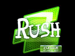 Sticker   RUSH (Foil)   Atlanta 2017