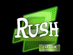 Наклейка | RUSH | Атланта 2017