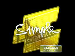 Наклейка | s1mple (металлическая) | Атланта 2017