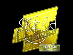 Наклейка | seized (металлическая) | Атланта 2017