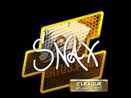 Наклейка | Snax (металлическая) | Атланта 2017