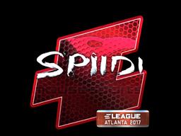 Sticker   Spiidi (Foil)   Atlanta 2017