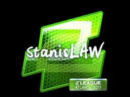Sticker   stanislaw (Foil)   Atlanta 2017