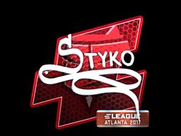 Sticker   STYKO (Foil)   Atlanta 2017